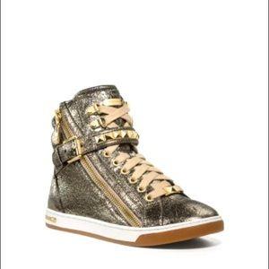 Michael Kors Metallic gold high top sneaker 7.5